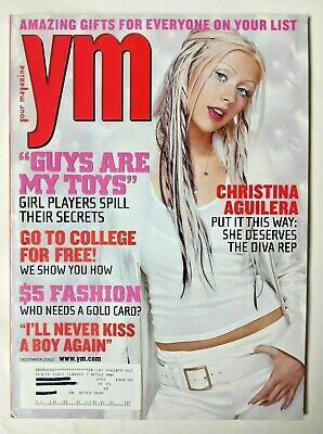 YM Magazine December 2002 - CHRISTINA AGUILERA • 17.88£