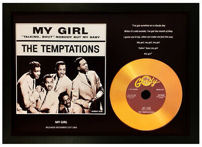 The Temptations - My Girl - Photo Gold Cd Disc Memorabilia Collectable Gift • 15.99£