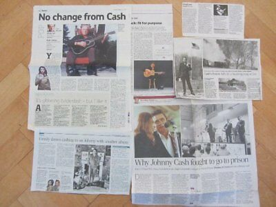 JOHNNY CASH Clippings/ Cuttings UK Newspaper • 7.49£