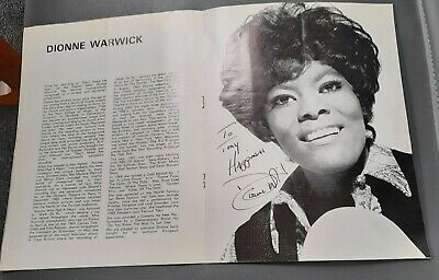 SIGNED Dionne Warwick Royal Albert Hall Concert Programme C1970 Johnny Harris • 5£