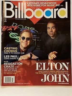 Billboard Magazine Sept 10 2005 Featuring Elton John Merck Mercuriadis Lew Paul • 28.60£