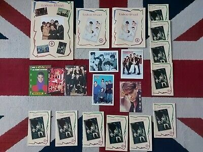 TAKE THAT COLLECTABLE EXERCISE VINTAGE BOOKS NICEMAN 1993 And Postcards  • 30£