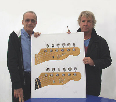Status Quo Limited Edition Art Print Signed By Rick Parfitt & Francis Rossi • 260£