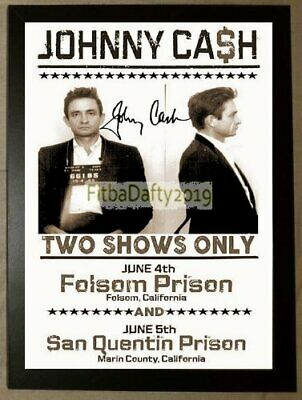 Johnny Cash Reproduction Concert Poster A4 Framed Classic Photo Print • 9.99£