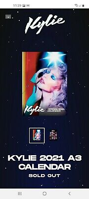 Kylie Minogue 2021 **♡Sold Out♡** Calendar Opened Unused Condition  • 69.99£