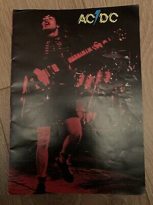 Acdc AC/DC Tourbook. Rare In Strong Excellent Condition Powerage • 125£