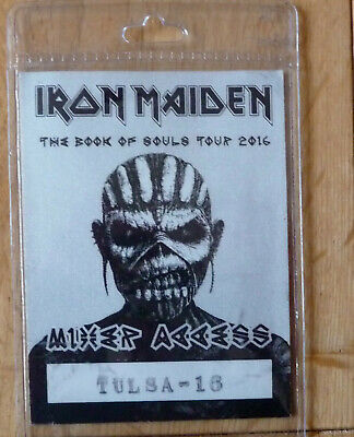 Iron Maiden Pass From Book Of Souls Tour Tulsa 2016 Main Colour Grey • 40£