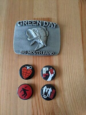 Green Day Bundle Belt Buckle And Button Badges • 3.99£