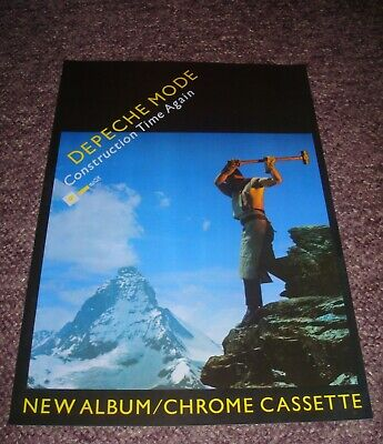 Depeche Mode  Construction Time Again  17 X 11 Promo Poster • 8.50£