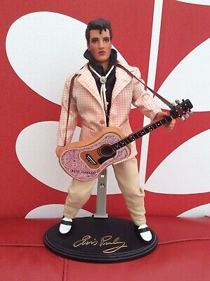 Elvis Presley Doll Figure With Guitar & Stand 1993 • 14.99£