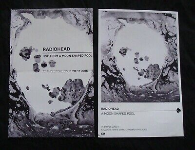 RADIOHEAD Album Poster Lot Of 2  LIVE FROM A MOON SHAPED POOL Original Record St • 14.19£