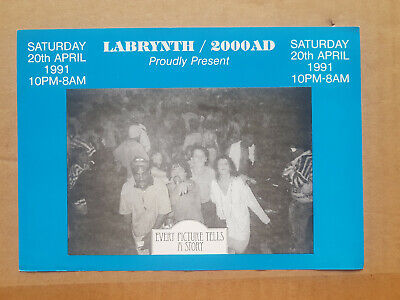 Labrynth 2000AD Part 1 Rave Flyer, Every Picture Tells A Story 1991 A5 VVGC • 15£
