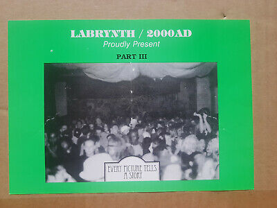 Labrynth 2000AD Part 3 Rave Flyer, Every Picture Tells A Story 1991 A5 VGC • 15£
