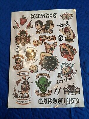 Kerrang Temperary Tattoo Sheet. • 2.99£