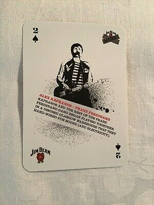 Alex Kapranos (franz Ferdinand) Playing Card • 1.75£