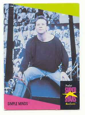 Jim Kerr / Simple Minds - 1991 Proset Superstars Music Card • 1.75£