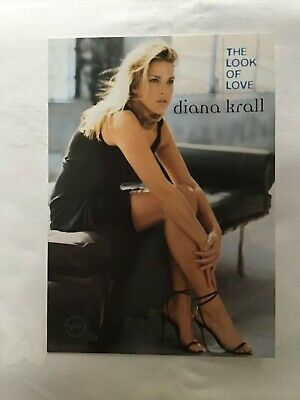 DIANA KRALL PROMO POST CARD For The Album THE LOOK OF LOVE  • 1.99£