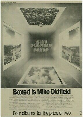 Mike Oldfield Boxed / George Melly    A3 Laminated Advert UK 1976 • 5£