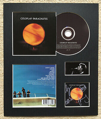COLDPLAY - Signed Autographed - PARACHUTES - Album Display • 16£