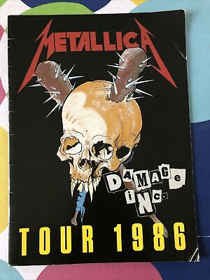 Metallica Master Of Puppets 1986 Official Tour Program VG Condition • 175£