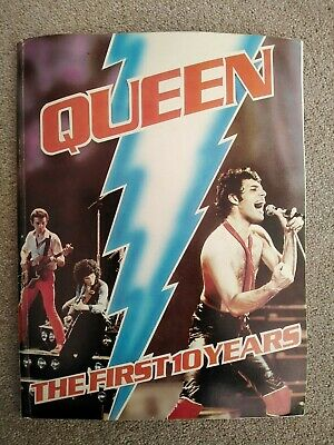 QUEEN, The First 10 Years Book (MEGA RARE) Freddie Mercury, Taylor, Deacon, May. • 16.99£