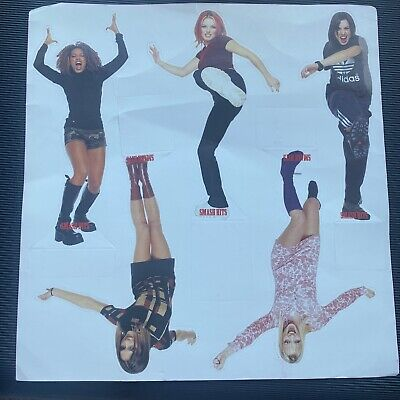 Spice Girls Pop Up Cardboard Mini Figures Smash Hits • 0.99£