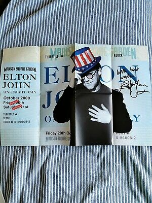ELTON JOHN Vintage Poster Madison Square Garden October 30  X 20  RARE Mint  • 15£