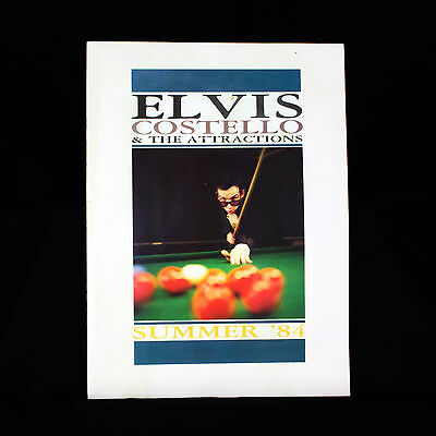 Elvis Costello And The Attractions - Tour Programme Summer 1984 • 19.95£