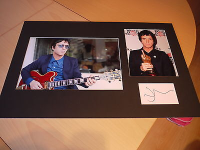 Genuine Johnny Marr The Smiths Signed & Mounted Card & Photo Display - C.O.A. • 50£