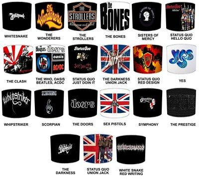 Glastonbury Heavy Rock Bands, Rock Music, Rock N Roll Bands Designs Lampshades   • 26.99£