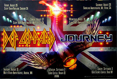 Def Leppard Journey 7 City Tour Poster (BGP#343) 2006 • 196.78£