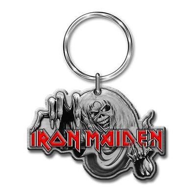 Official Licensed - Iron Maiden - Number Of The Beast Keychain Metal Keyring • 9.99£
