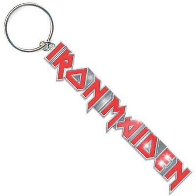 Official Licensed - Iron Maiden - Logo With Tails Keychain Keyring Metal Eddie • 6.99£