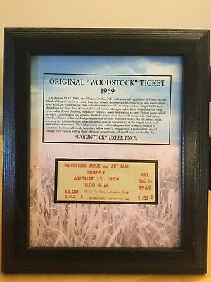 1969 Woodstock Authentic Unused Ticket Friday, August 15, 1969  • 771.49£