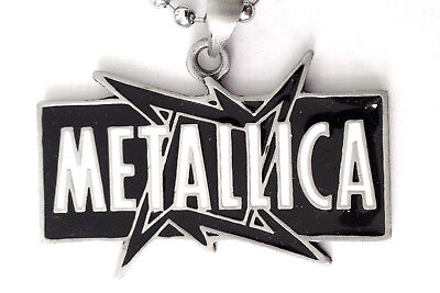 METALLICA HEAVY METAL Blk & WHT PENDANT MENS BOYS NECKLACE CHAIN    BPC 019 • 6£