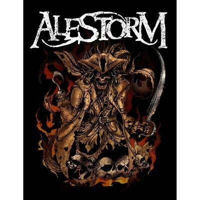 Official Licensed - Alestorm - Beer Pirate Woven Sew-on Patch Metal • 7£