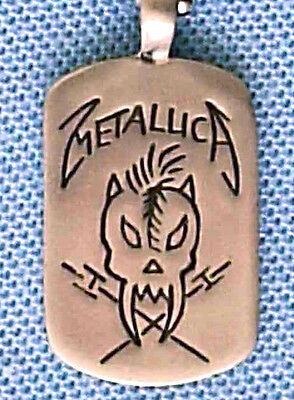 Metallica Heavy Metal Pendant Mens Boys Necklace Chain    Bpc 046 • 6£