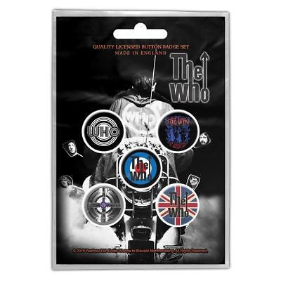 Official Licensed - The Who - Quadrophenia 5 Badge Pack Rock Daltrey Mod • 5.50£