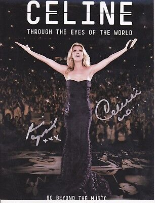 Celine Dion And Rene Angelil Rare Signed 8x10 Photo Reprint Plus Free Magazine • 7.97£