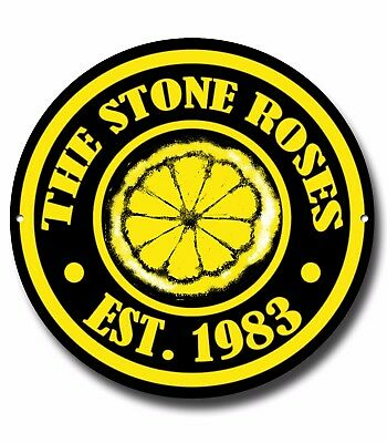The Stone Roses Metal Sign, Music,english Rock, Ian Brown, Manchester • 12.95£