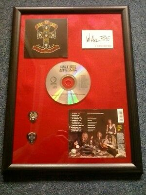 GUNS N' ROSES - APPETITE FOR DESTRUCTION Framed CD Album W/ Facsimile Autograph • 19.99£