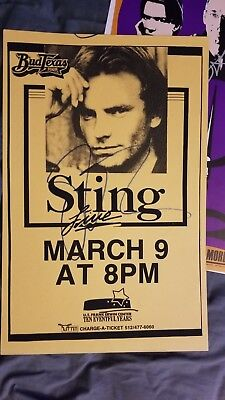 Sting The Police Autographed  Concert Poster • 922.19£