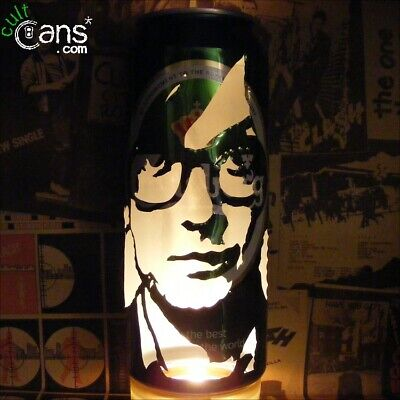 Jarvis Cocker Beer Can Lantern! Pulp, Britpop Pop Art Portrait Candle Lamp • 13.99£