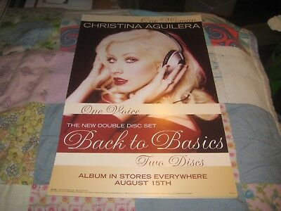 CHRISTINA AGUILERA-(back To Basics)-STATIC STICKER-11X17 INCHES-NMINT-RARE • 9.93£