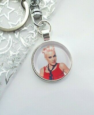 Pink Singer Photo Key Ring Strong  Chain Gift Boxed Party Birthday • 3.99£