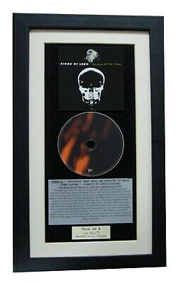 KINGS OF LEON Because CLASSIC CD Album QUALITY FRAMED! • 44.95£