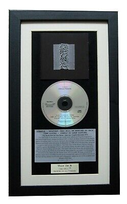 JOY DIVISION Unknown Pleasures CLASSIC CD Album Curtis FRAMED+FAST GLOBAL SHIP! • 44.95£