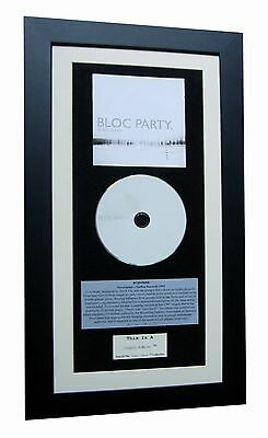 BLOC PARTY Silent Alarm CLASSIC CD Album QUALITY FRAMED+EXPRESS GLOBAL SHIPPING! • 44.95£