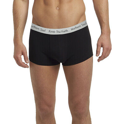 Northern Soul Clothing Gift Stretch Cotton Boxer Shorts: Black. • 5.99£