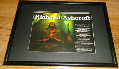 RICHARD ASHCROFT 2006 Tour-framed Original Press Release Promo Poster  • 12£